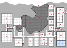 Devil's Lair Map - Main Level - with grid & labels