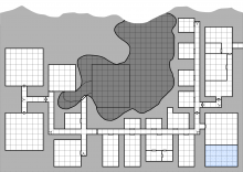 Devil's Lair Map - Main Level - with grid