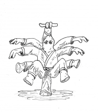 Ten-limbed Dralasite Martial Artist